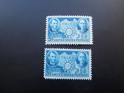US, #906, US and China, 2 Pieces, 1941, Unused