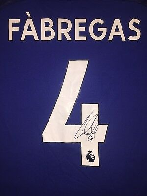 Cesc Fabregas Personally Signed 17/18 Chelsea Shirt, Spain, 1