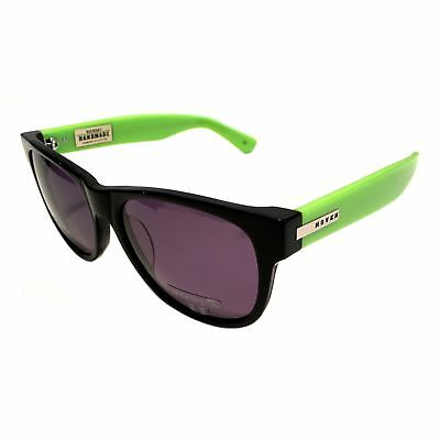 4649961e0e NEW Hoven Vision Big Risky Sunglasses – Black   Bright Green Frame – Grey  Lens
