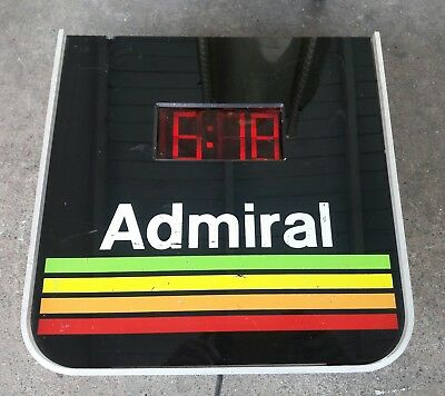 Vintage Admiral Light Up TV Sign with Clock