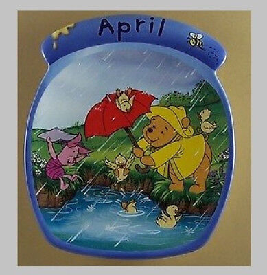 Winnie The Pooh The Whole Year Through APRIL Calendar Plate #4 Fourth Issue