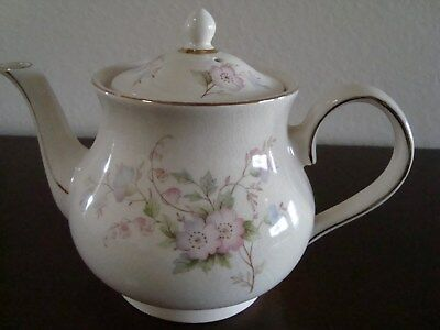 Arthur Wood-England China Teapot #6031 Delicate Floral Design No flaws Perfect!!