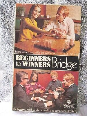 Vintage 1972  Beginners to Winners  Bridge   Card Game  Teach Yourself  Complete