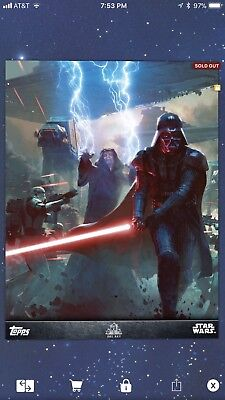 Topps Star Wars Card Trader Del Rey Lords Of The Sith SWCT Insert Art