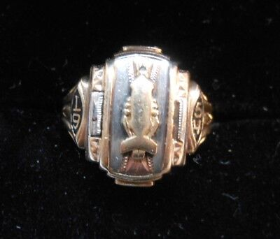 Ladies 10K Yellow Gold 1954 Class Ring Josten