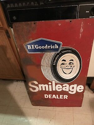 Vintage Bf Goodrich Smileage Dealer Sign