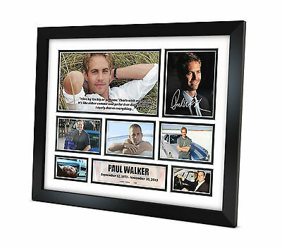 Paul Walker - Signed Photo - Movie Memorabilia - Limited Edition - Framed B