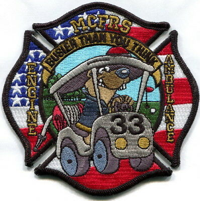 Maryland - Montgomery County Fire Rockville station 33 current style patch
