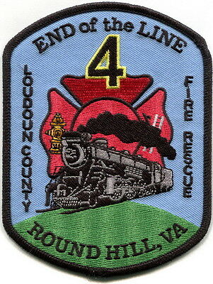 Virginia- Loudoun County Fire Dept. Round Hill station 4 train patch