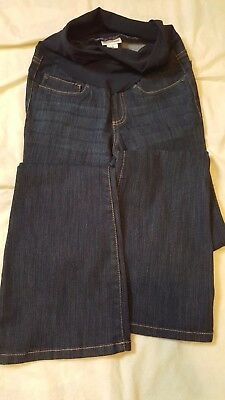 Motherhood Maternity Size XS Dark Wash Flare Leg Over Belly Full Panel Jeans