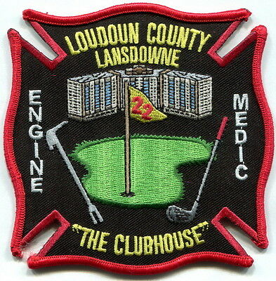 """Virginia- Loudoun County Fire Dept. Lansdowne station 22 """"The Clubhouse"""" patch"""
