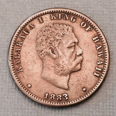 - 1883 Kingdom of Hawaii Quarter Dollar  Kalakaua I