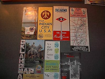 1957 Oklahoma Official Raod Maps - 50th Anniversary