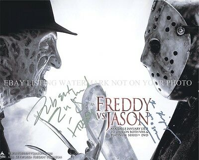 FREDDY VS JASON CAST AUTOGRAPHED 8x10 RP PHOTO HALLOWEEN FRIDAY 13th