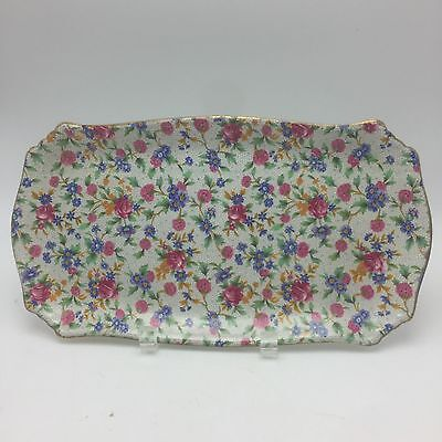 "Royal Winton Old Cottage Chintz12"" x 6.75"" Tray Plate Pre 1960 England"