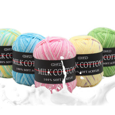 Baby Milk cotton Chunky Yarn Quality 100% Soft Acrylic colorful Knitting Crochet