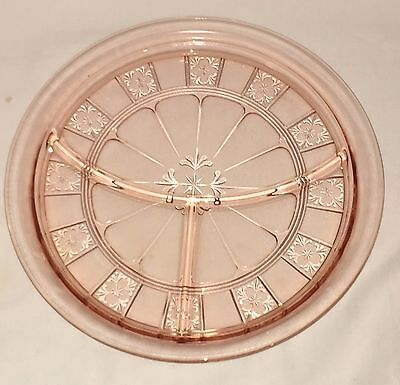 "Jeannette DORIC PINK *9"" GRILL PLATE*"