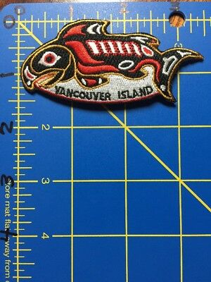 Vancouver Island Patch British Columbia BC Canada Totem Whale Orca Eskimo Indian