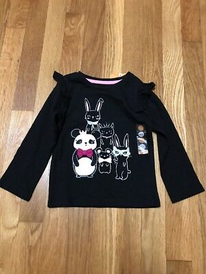 NWT GYMBOREE Panda Bunny Cat Mouse Long Sleeve Shirt Toddler Girl 18-24 months