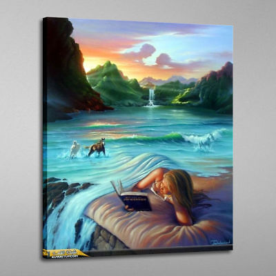 Hd  print oil painting decor Jim Warren Fantasy  art print canvas 16x24'  #1