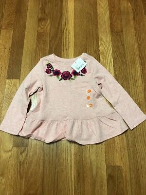 NEW NWT GYMBOREE Flower Long Sleeve Top Pink Toddler Girl size 2T