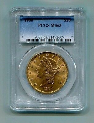 1900 P US Gold $20 Liberty Head Double Eagle PCGS MS63