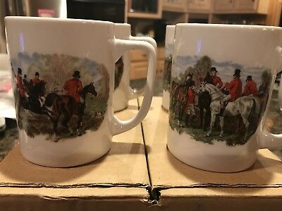4 Equestrian Coffee Mugs