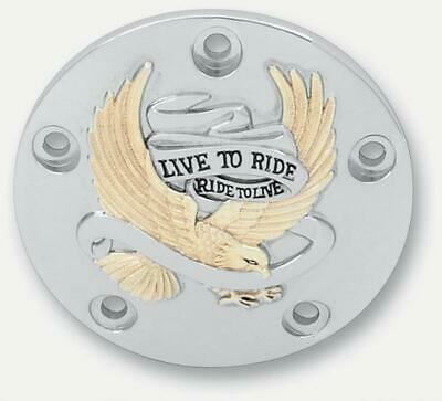 Drag Specialties Live to Ride Points Cover Gold 0940-0842