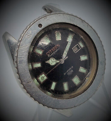 RARE CITIZEN 150m Automatic date vintage diver watch 62-6198 Military PAF 74