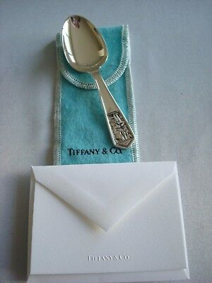 TIFFANY 'OLE KING COLE'  sterling silver ~MINT~ BABY SPOON SPOON ~ pouch,card