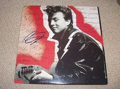 COLIN JAMES - Signed Self Titled Vinyl LP Record *Autographed* DEBUT ALBUM!!