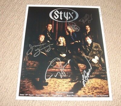 Styx - Autographed 8X10 Promo Photo - Band Signed! Tommy Shaw James Young