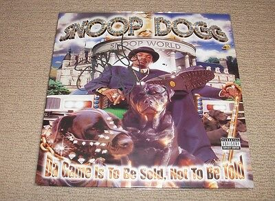 SNOOP DOGG - Signed Da Game Is To Be Sold Not To Be Told - VINYL LP RECORD! RAP