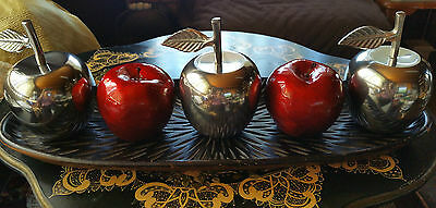"""Collectible Elegant """"aluminium Polished Apple"""" Home Decor/paper Weight, Heavy"""