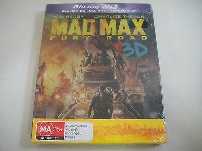 Mad Max Fury Road 3D (2015) - 2-Disc FuturePak Blu-Ray Region Free | New | Rare