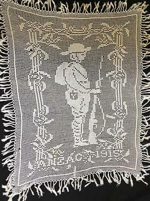 Mary Card Anzac Soldier 1915 Australiana Fillet Crochet Large