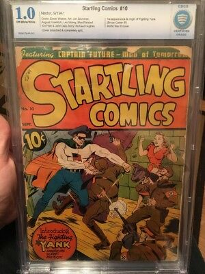 startling comics #10 First Appearance Fighting Yank Rare Cbcs 1.0 Unrestored