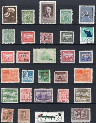 China page of old stamps mint and used see scans x 2