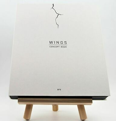 BTS Wings Concept Book Bangtan Boys Limited Edition + Wanted Lenticular Card