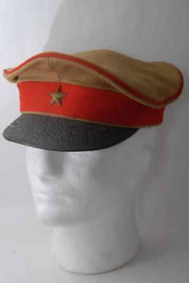 Original IJA WWII Imperial Japanese Army Officer Hat  #a6490