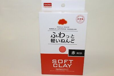 DAISO SOFT CLAY Japan DIY Lightweight Red NEW F/S