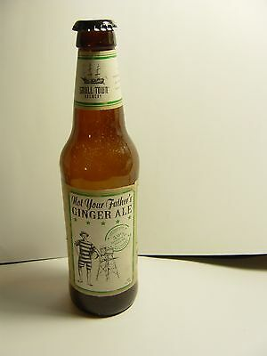 Empty GLASS  Beer bottle, Not Your Father's Ginger Ale. 355 ml with cap