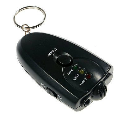 Personal Breathalyzer 3 in 1 Alcohol Tester with Digital Display, Keyring,Torch