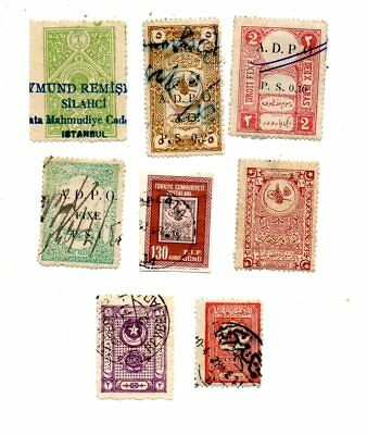 Turquie Palestine A D P O  Liban Syrie  Lot De 8 Timbres  B 20