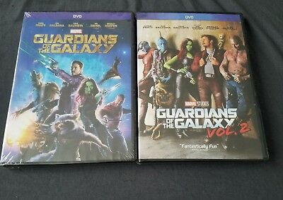 Guardians of the Galaxy Vol. 1 - 2 DVD Marvel Bundle NEW + FREE SHIPPING