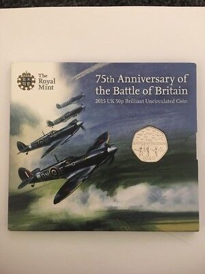 75th Anniversary Of The Battle Of Britain 50p Uncirculated Coin