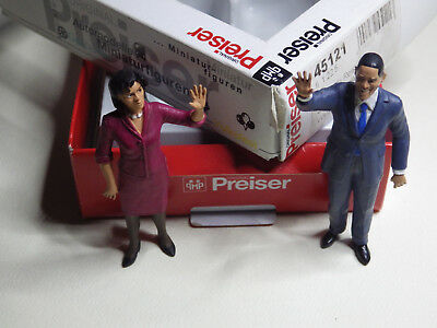 president obama and first lady  preiser 1.22,5 g scale