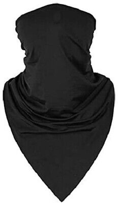 Motorcycle Face Mask Neck Cover Balaclava Cycling Bike Ski Outdoor Black Bandana