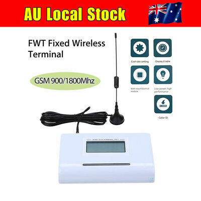AU! FWT Fixed Wireless Terminal Phone GSM 900/1800MHZ Dual Band LCD Display 12V