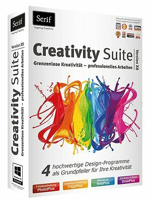 Creativity Suite X8 CD/DVD Version EAN 4023126118776  + PDF Experte 8 auf CD